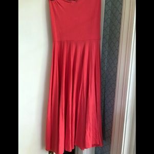 JCrew dress in soft coral that can be rolled skirt